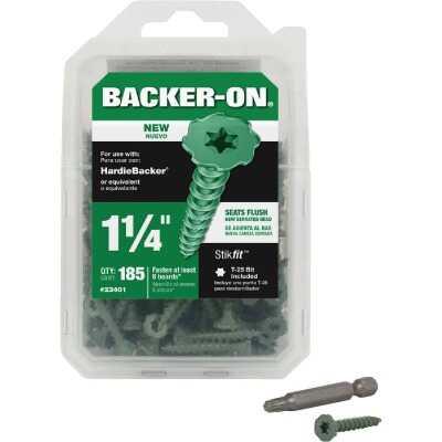 Buildex Backer-On #9 x 1-1/4 In. Cement Board Screw (185 Ct.)