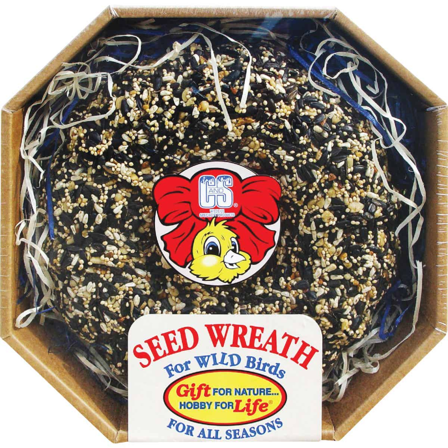 C&S 2.6 Lb. Wild Bird Seed Wreath Image 1