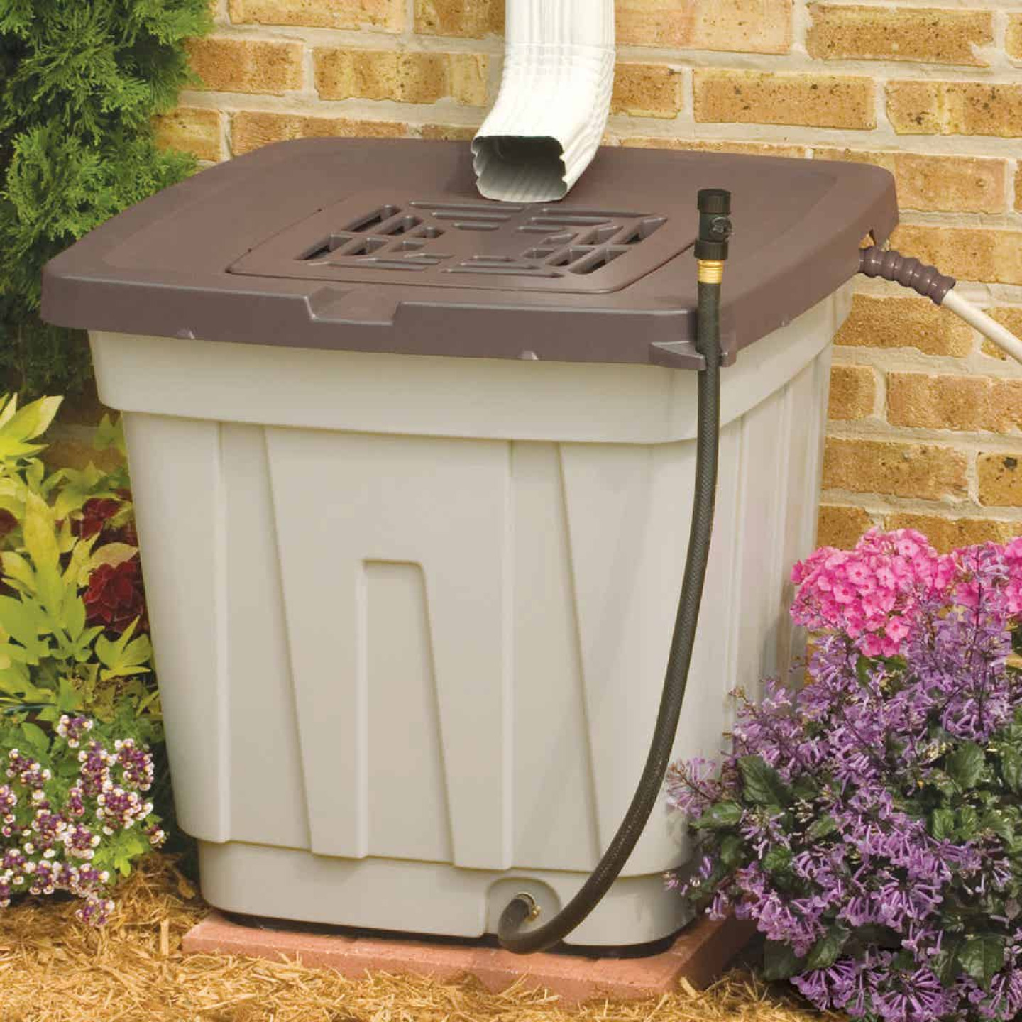 Suncast 50 Gal. Tan Durable Resin Rain Barrel Image 1