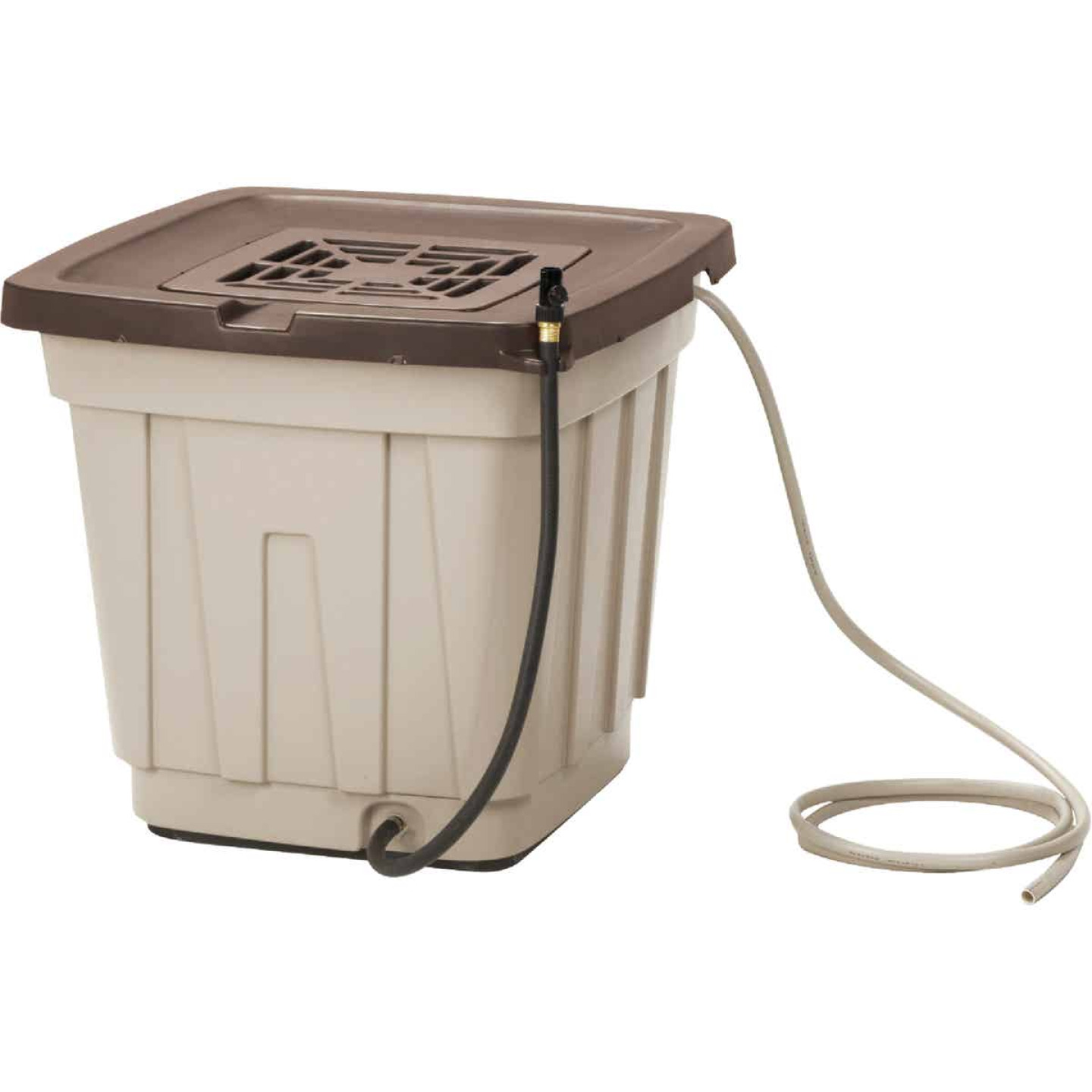 Suncast 50 Gal. Tan Durable Resin Rain Barrel Image 2