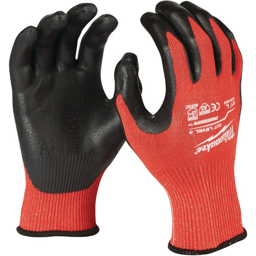 Milwaukee Men's Large Nitrile Coated Cut Level 3 Work Glove