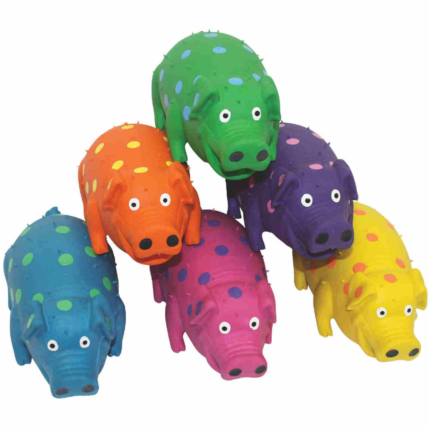 Multipet Globlets 9 In. Squeaky Pig Dog Toy Image 1