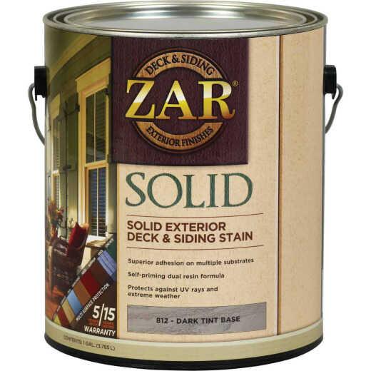 ZAR Solid Deck & Siding Stain, Dark Tint Base, 1 Gal.