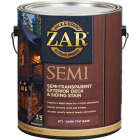 ZAR Semi-Transparent Exterior Deck & Siding Stain, Dark Tint Base, 1 Gal. Image 1