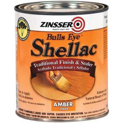 Zinsser Bulls Eye Amber Shellac, Quart