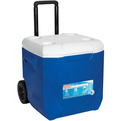 Coleman 45 Qt. 2-Wheeled Cooler, Blue