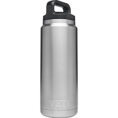 Yeti Rambler 26 Oz. Silver Stainless Steel Insulated Vacuum Bottle