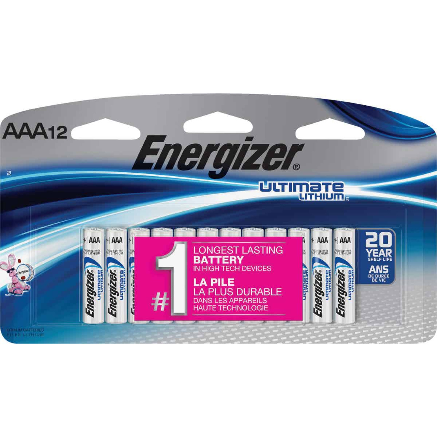 Energizer AAA Ultimate Lithium Battery (12-Pack) Image 1
