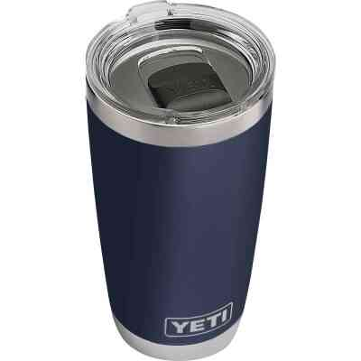 Yeti Rambler 20 Oz. Navy Blue Stainless Steel Insulated Tumbler with MagSlider Lid