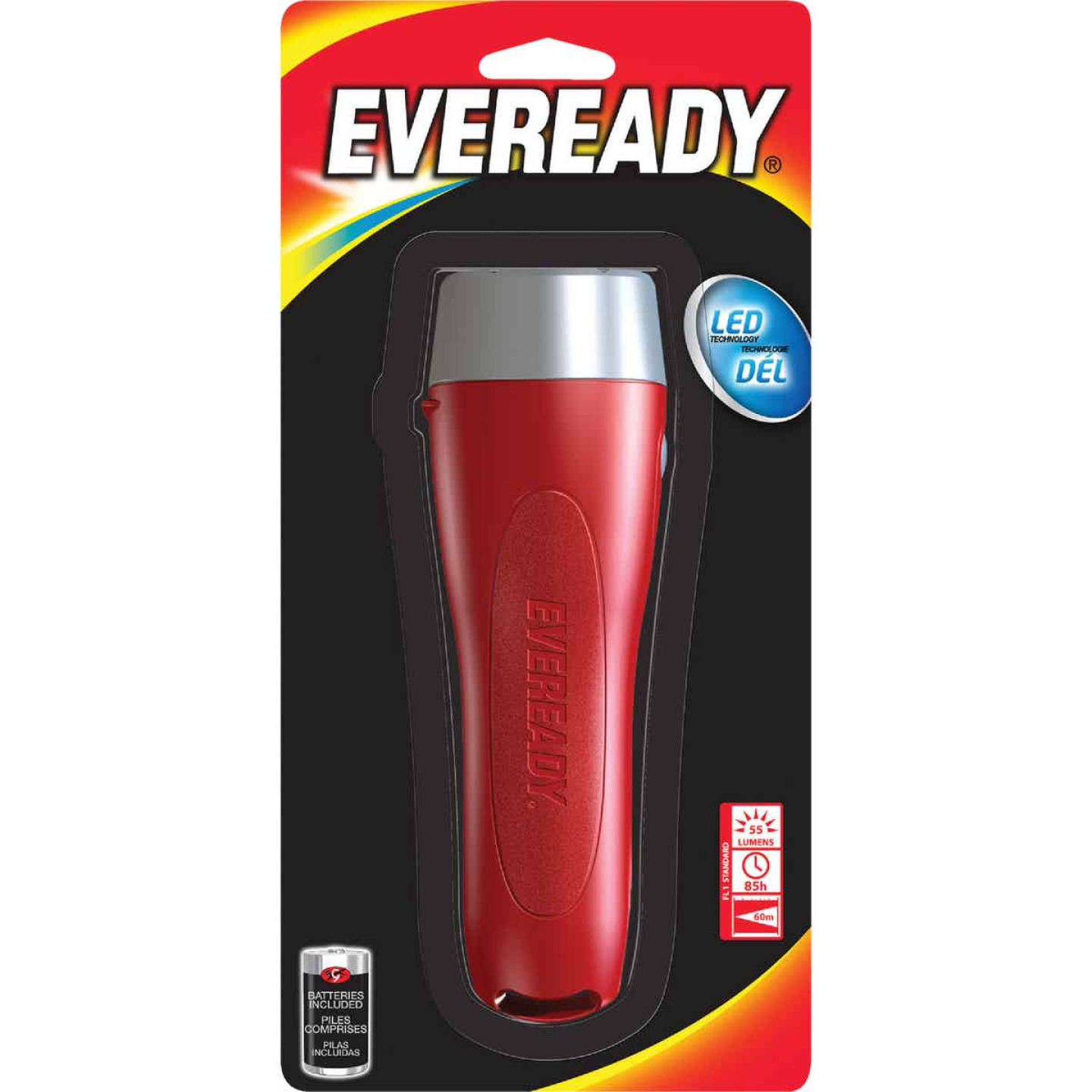 Eveready Red Long Life LED Flashlight Image 1