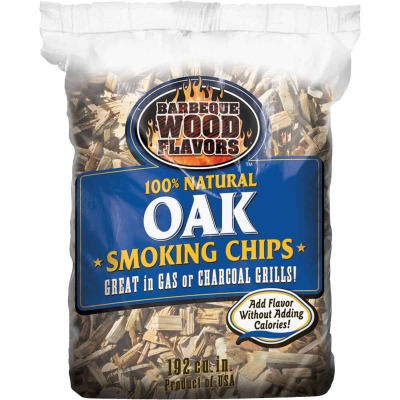 Barbeque Wood Flavors 192 Cu. In. Oak Smoking Chips