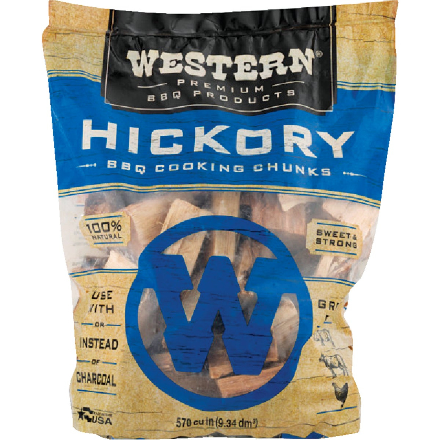 Western 6 Lb. Hickory Wood Smoking Chunks Image 1