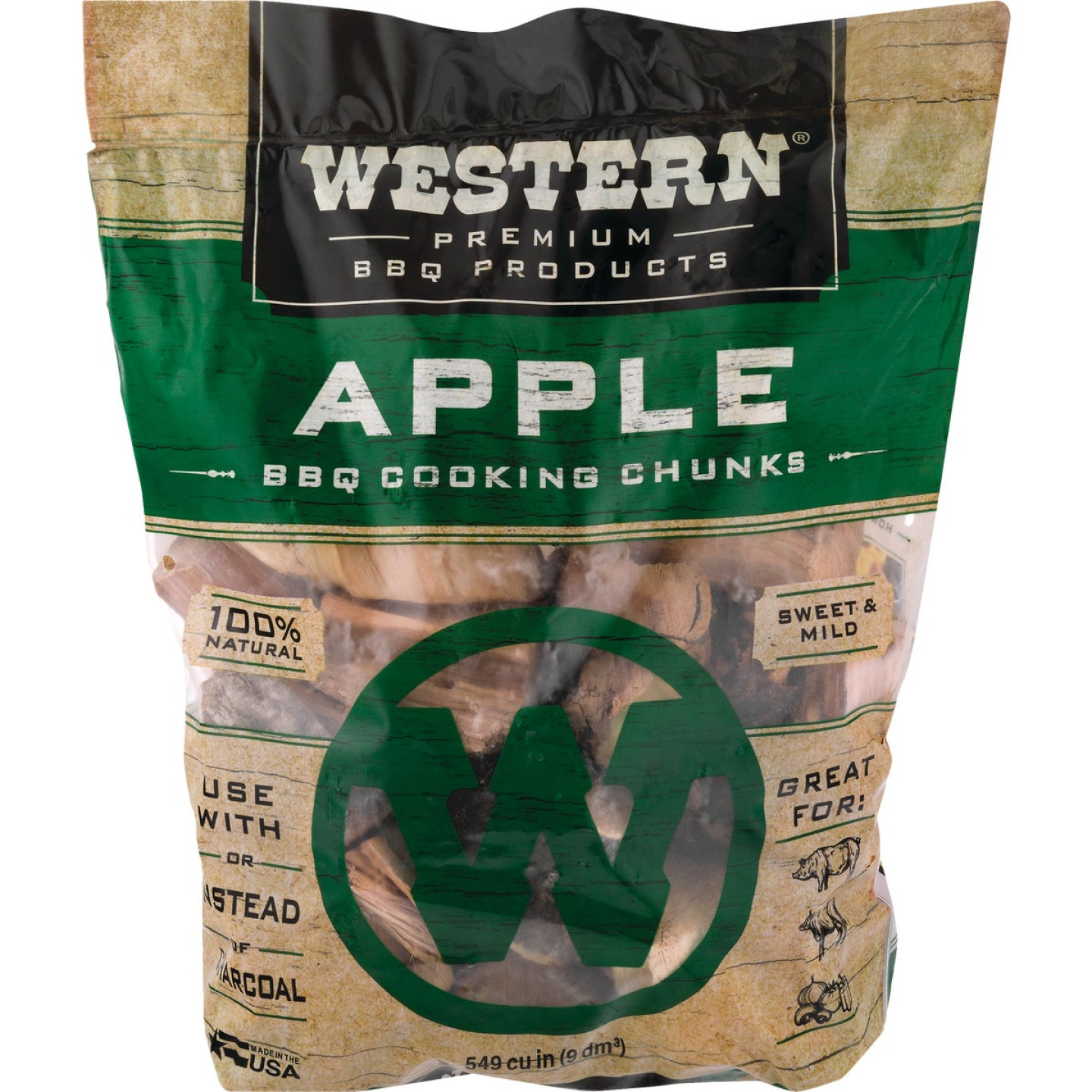 Western 6 Lb. Apple Wood Smoking Chunks Image 3