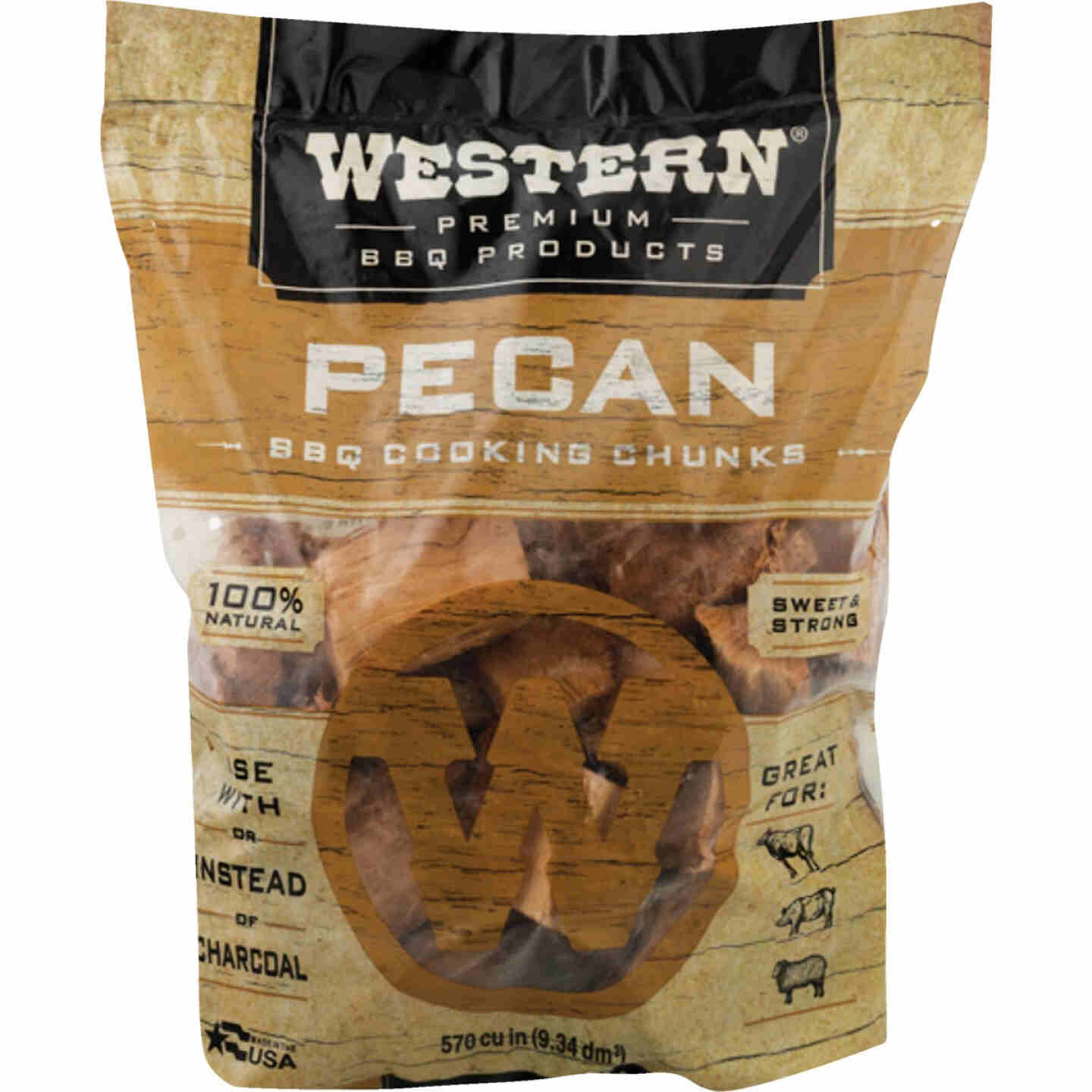 Western 6 Lb. Pecan Wood Smoking Chunks Image 1