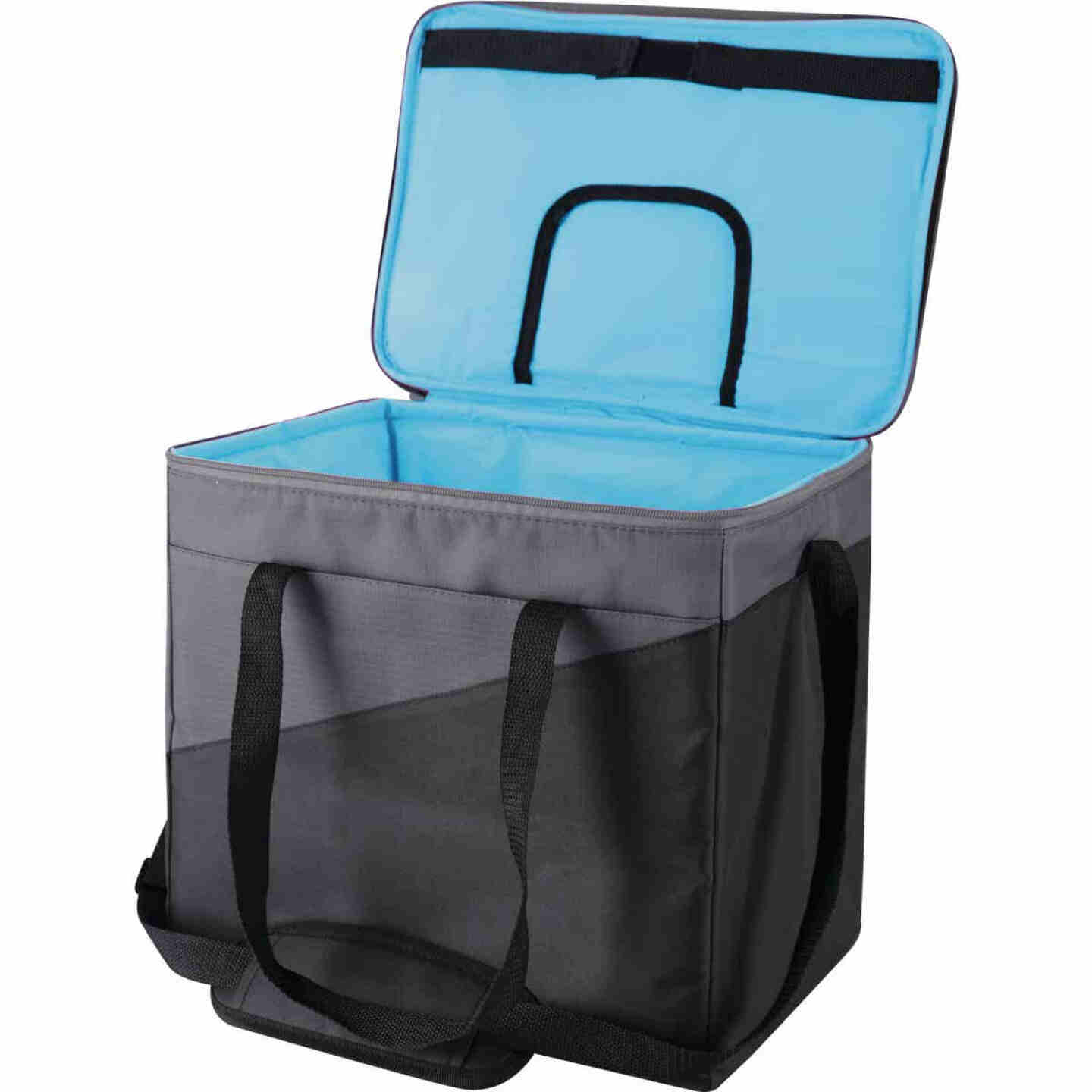 Igloo Collapse & Cool 36-Can Soft-Side Cooler, Gray & Black Image 4