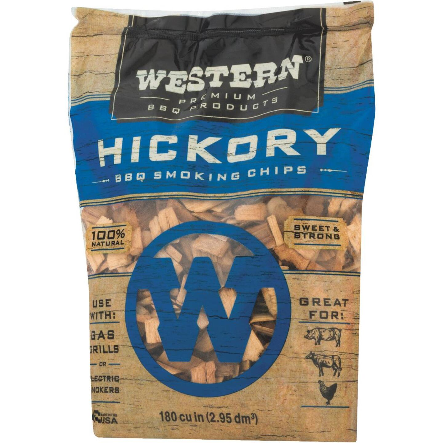 Western 180 Cu. In. Hickory Wood Smoking Chips Image 2