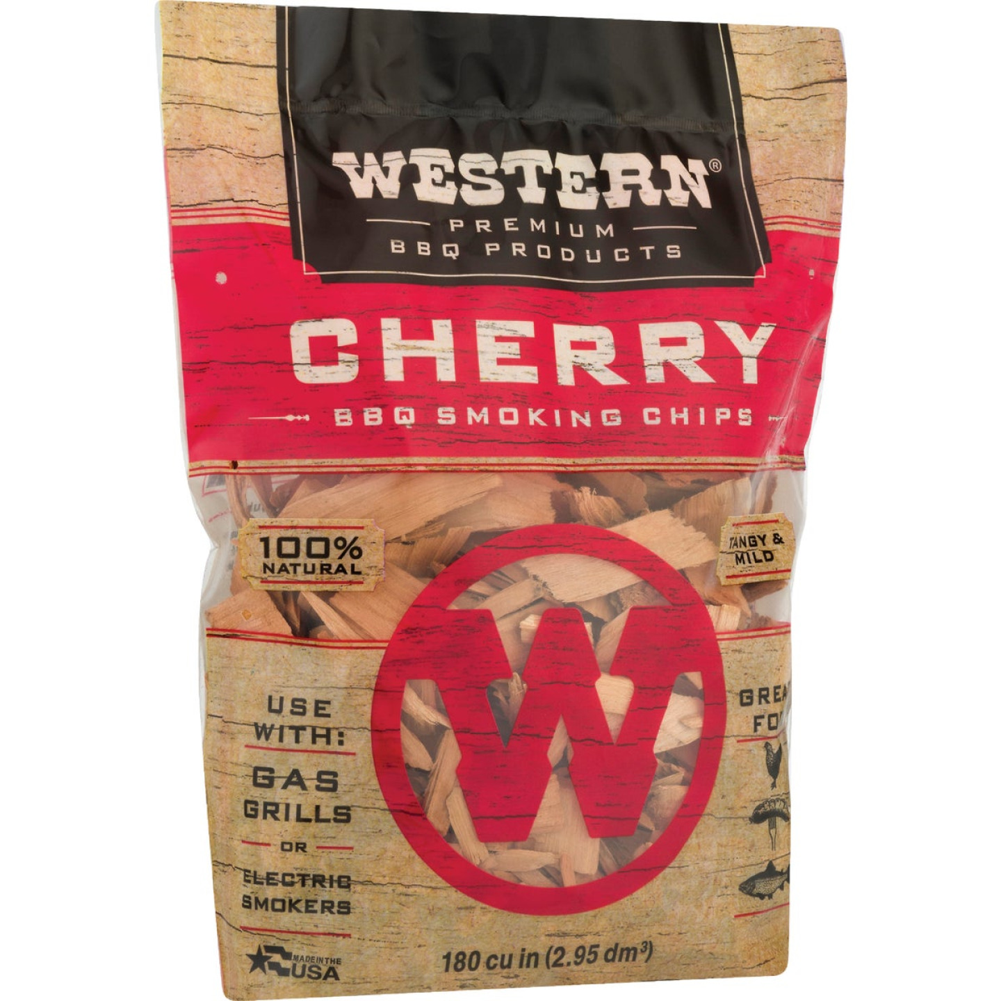 Western 2 Lb. Cherry Wood Smoking Chips Image 4