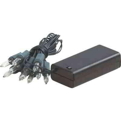 J Hofert Clear 10-Bulb Mini Incandescent Battery Operated Light Set