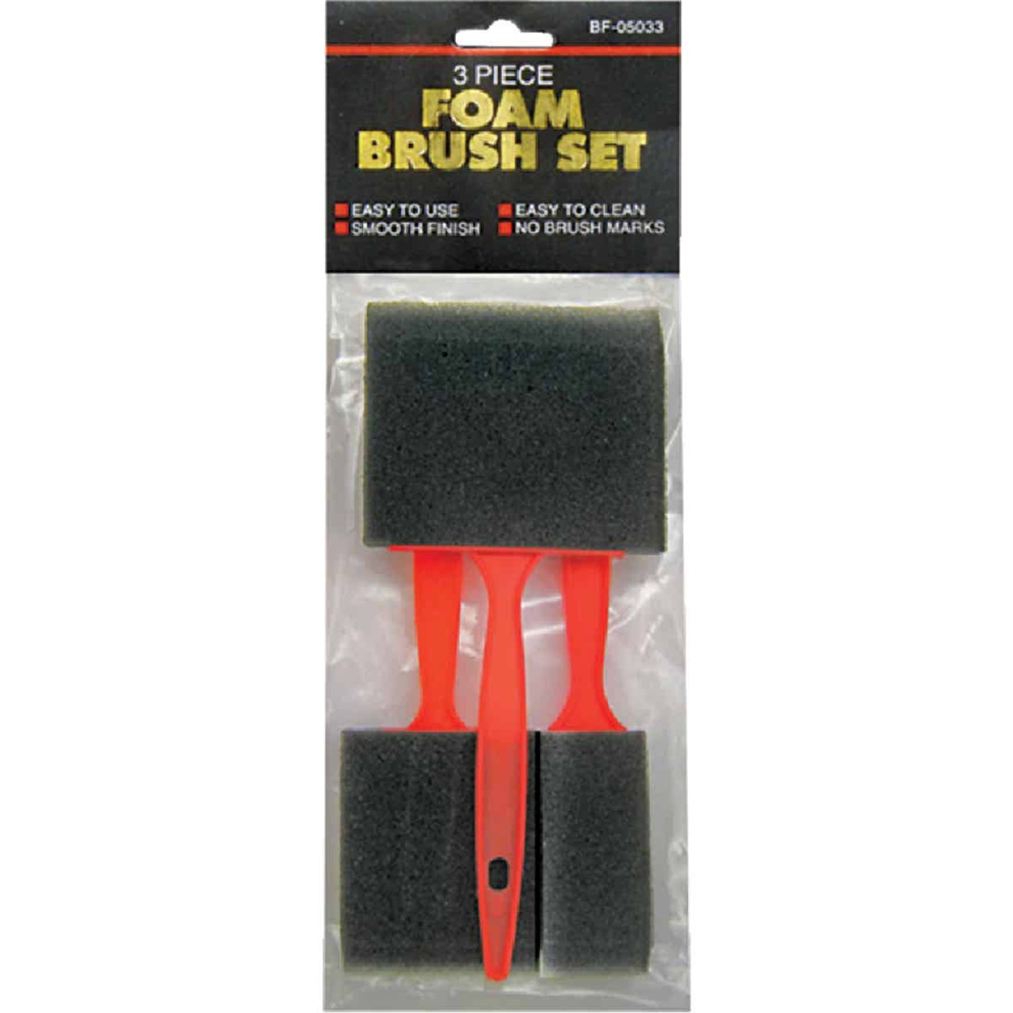 Jacent 1 In., 2 In., 3 In. Foam Brush Set (3-Pieces)  Image 1